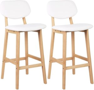 Barstühle aus Holz, Barhocker im 2er Set